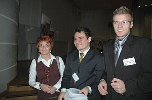 Organizatorzy konferencji: opiekun KN Informatyków dr Urszula Boryczka oraz członkowie KN Robert i Paweł