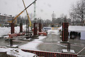 Stan budowy Centrum z 30 stycznia 2006 roku