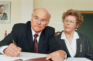 Ryszard Kapuściński z żoną Alicją
