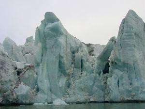 Lodowiec Konow w fiordzie St Jons