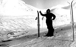 Doc. dr hab. Marian Pulina na Spitsbergenie, maj 1980 rok