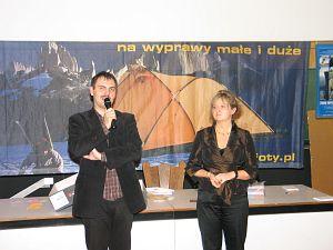 Przedstawiciele organizatorów Festiwalu: Joanna i Artur Morawiec