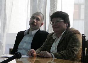 Prof. Przemysław Czapliński i prof. Hanna Gosk
