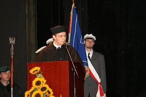 Przemówienie Macieja Biskupskiego, przewodniczącego Uczelnianej Rady Samorządu Studenckiego