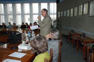 Na spotkaniu wykład wygłosił prof. dr hab. Andrzej Markowski, przewodniczący Rady Języka Polskiego