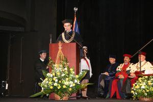 W imieniu promotora prof. zw. dr. hab. Tadeusza Miczki laudatio odczytał dziekan Wydziału Filologicznego prof. dr hab. Piotr Wilczek
