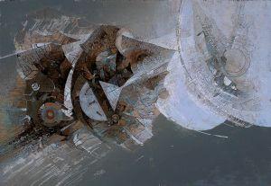 Konstelacje X, technika mieszana, 2007