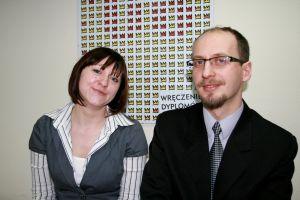 Prezes dr Łukasz Adamczyk i wiceprezes Agnieszka Dunaj