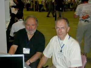 Prof. M. Brian Maple z Uniwersytetu Kalifornijskiego w San Diego i prof. zw. dr hab. Andrzej Ślebarski (Kyoto 2006)