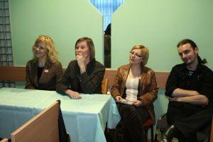 Loża ekspertów, od lewej: dr Aleksandra Grzybowska, dr Aleksandra Chrupała, mgr Karolina Kapołka, mgr Michał Krzykawski
