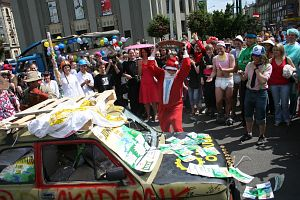 Impreza na katowickim Rynku
