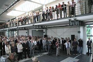 Podczas uroczystości otwarcia budynku Centrum Naukowo-Dydaktycznego Instytutów Neofilologicznych UŚ w Sosnowcu