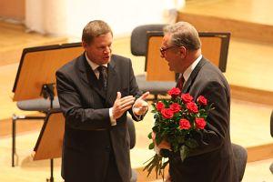 JM Rektor prof. zw. dr hab. Janusz Janeczek i Krzysztof Zanussi