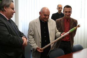 Od lewej: dr Zbigniew Widera, prof. Artur Starczewski, dr Łukasz Adamczyk, dr Tomasz Kipka