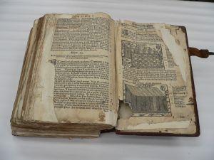 Biblia Leopolity - stan sprzed konserwacji