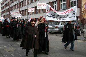 Przemarsz wampirów ulicami Katowic
