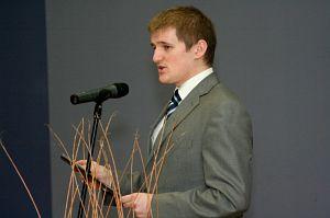 Przewodniczący Samorządu Studenckiego Jacek Szymik-Kozaczko