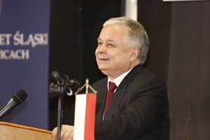 Prezydent RP prof. dr hab. Lech Kaczyński spotkał się ze studentami naszej Uczelni w auli K. Popiołka na Wydziale Nauk Społecznych