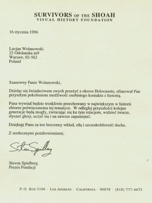List od Stevena Spielberga (1996 r.)