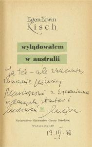 Egon Erwin Kisch (1885-1948), reporterski wzór dla Wolanowskiego